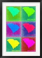 Framed South Carolina Pop Art Map 2