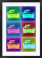 Framed Ferrari Pop Art 2