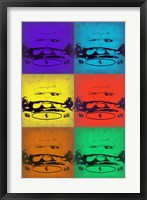 Framed Ferrari Front Pop Art 3