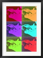 Framed Racing Ferrari Pop Art 3