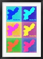 Framed Philadelphia Pop Art Map 3