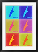 Framed Manhattan Pop Art Map 3