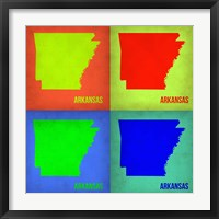 Framed Arkansas Pop Art Map 1