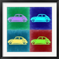 Framed VW Beetle Pop Art 3