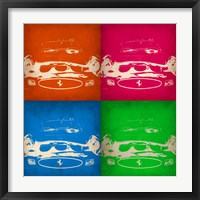 Framed Ferrari Front Pop Art 1