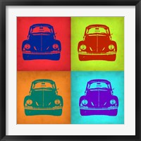 Framed VW Beetle Front Pop Art 1