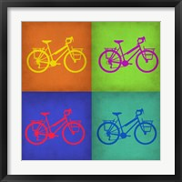 Framed Vintage Bicycle Pop Art 1
