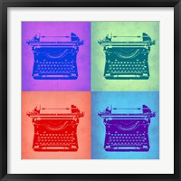 Framed Vintage Typewriter Pop Art 2