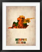 Framed Memphis Watercolor Map