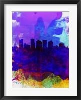 Framed Phoenix Watercolor Skyline 1