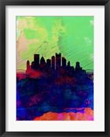 Framed Pittsburgh Watercolor Skyline