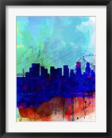 Framed Portland Watercolor Skyline