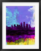 Framed Louisville Watercolor Skyline