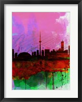 Framed Toronto Watercolor Skyline