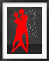 Framed Red Couple Dance