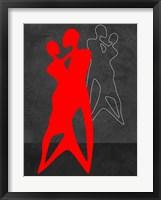 Red Couple Dance Framed Print