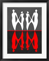 Red and White Dance 2 Framed Print