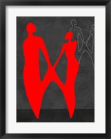 Framed Red Couple 2