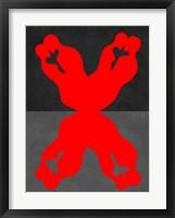 Red Kiss 1 Framed Print