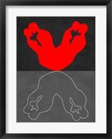 Red Kiss 2 Framed Print