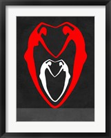 Framed Red and White Heart
