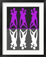 Framed Purple and White Dance