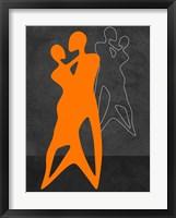 Framed Orange Couple Dancing