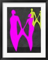 Framed Purple Couple