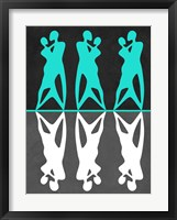 Framed Green and White Couple dancing