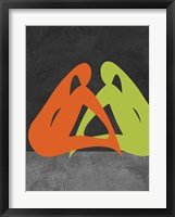 Framed Orange and Green Women