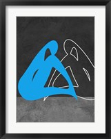 Framed Blue Woman