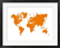 Framed Yellow Dotted World Map
