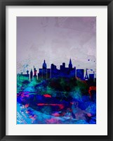 Framed Las Vegas Watercolor Skyline