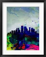 Framed New Orleans Watercolor Skyline