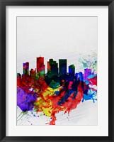 Framed Phoenix Watercolor Skyline 2