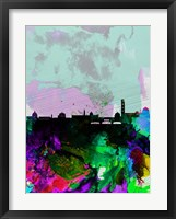 Framed Florence Watercolor Skyline