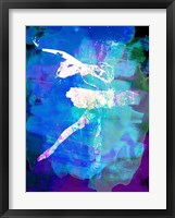 Framed White Ballerina Watercolor