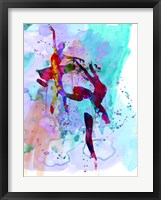 Framed Two Ballerinas Watercolor 1