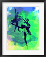 Framed Two Ballerinas Watercolor 2