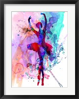 Framed Ballerina's Dance Watercolor 3