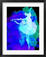 Framed Purple Ballerina Watercolor