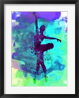 Framed Ballerina Watercolor 4B
