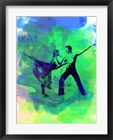 Framed Romantic Ballet Watercolor 1