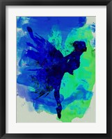Framed Ballerina on Stage Watercolor 2