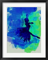Framed Ballerina on Stage Watercolor 5