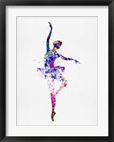 Framed Ballerina Dancing Watercolor 2