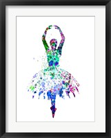Framed Ballerina Dancing Watercolor 4