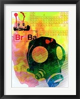 Framed Br Ba Watercolor 3