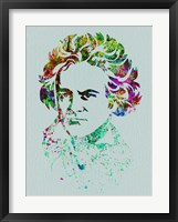 Framed Beethoven Watercolor