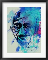 Framed Gandhi Watercolor 1